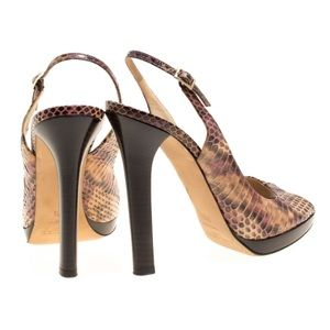 Jimmy Choo multi-colour Snakeskin Heeled Sandals